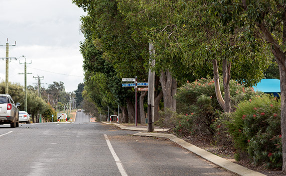 photo of Burrowes Street in Darkan, Western Australia.